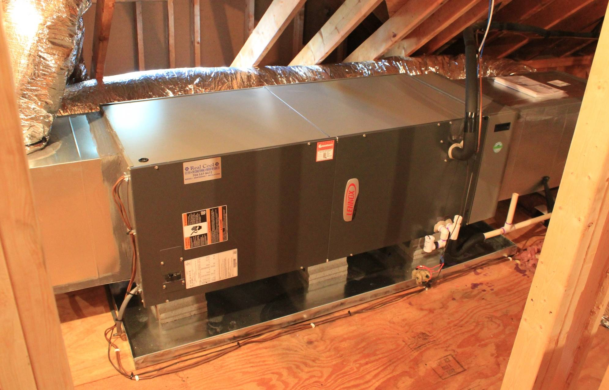 Heat Pump Installation By Real Cool - Air Handler Section